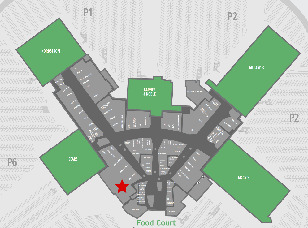 Map Of Chandler Fashion Square Mall